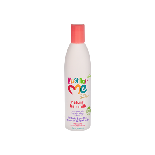 Just For Me - Natural Hair Milk - Hydrate & Protect Leave-In Conditioner - Après-Shampoing Sans Rinçage (295 ml)
