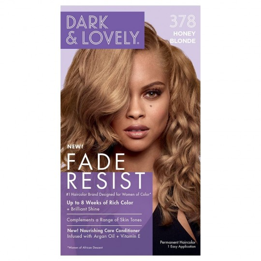 Dark & Lovely - Fade Resist - Hair Color Honey Blonde 378 - Coloration Blond Miel
