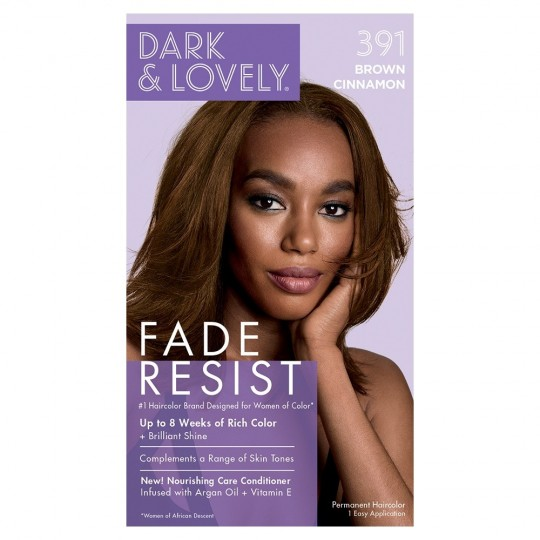 Dark & Lovely - Fade Resist - Hair Color Brown Cinnamon 391 - Coloration Marron Cannelle