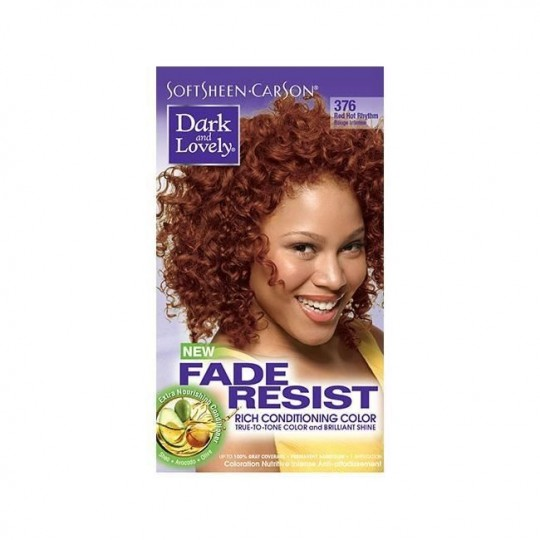 Dark & Lovely - Fade Resist - Hair Color Red Hot Rhythm 376 - Coloration Rouge Intense