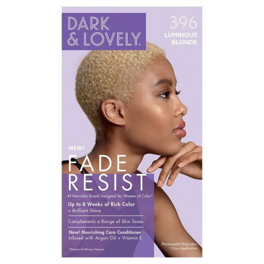 Dark & Lovely - Fade Resist - Hair Color Luminous Blonde 396 - Coloration Blond Lumineux