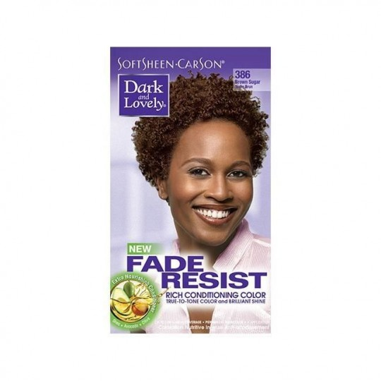 Dark & Lovely - Fade Resist - Hair Color Brown Sugar 386 - Coloration Sucre Brun