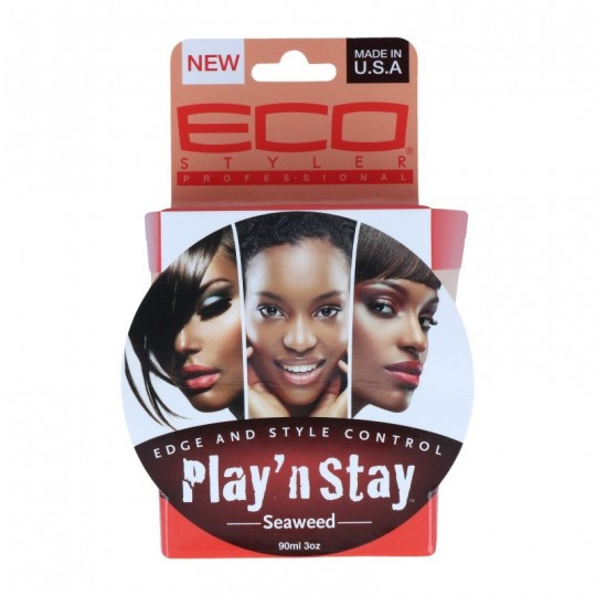 Eco Styler - Play N Stay - Edge Control Seaweed - Gel Lisseur De Bordures (90 ml)