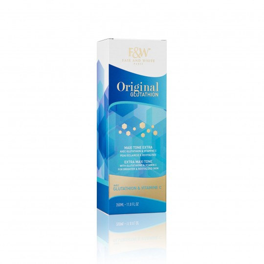 Fair And White - Original Glutathion - Maxi Tone Extra - Lait Eclaircissant Pour Le Corps (350ml)