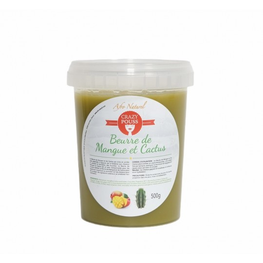 Afro Naturel - Crazy Pouss - Beurre De Mangue & Cactus (500g)