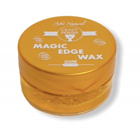 Afro Naturel - Crazy Pouss - Magic Edge Wax Doré (150ml)
