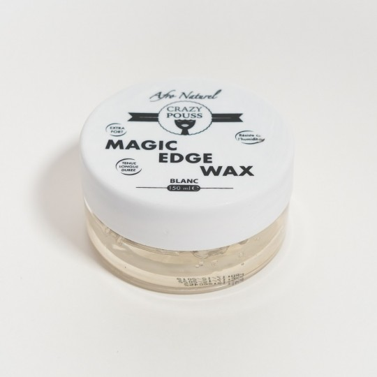 Afro Naturel - Crazy Pouss - Magic Edge Wax Blanc (150ml)