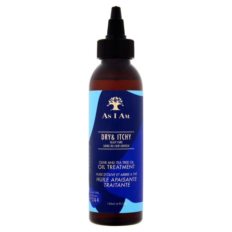 As I Am - Dry & Itchy (Olive & Tea Tree) - Huile Anti-Pelliculaire (120ml)