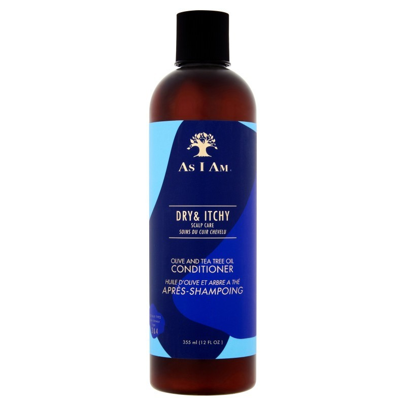 As I Am - Dry & Itchy (Olive & Tea Tree) - Après-Shampoing Anti-Pelliculaire (355ml)