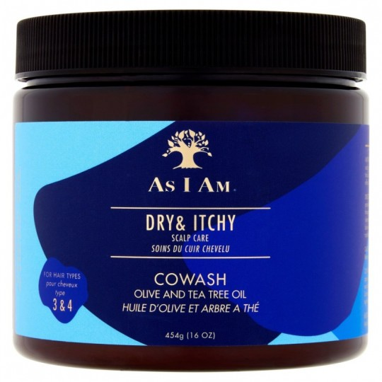 As I Am - Dry & Itchy (Olive & Tea Tree) - Co-wash Anti-Pelliculaire (454g)
