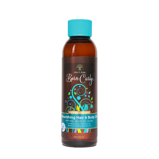 As I Am - Born Curly - Nourishing Hair and Body Oil - Huile Hydratant Corps et Cheveux (120ml)