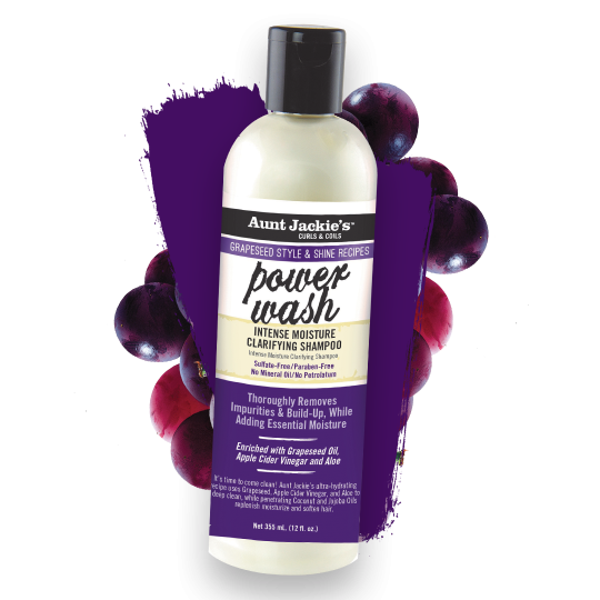 Aunt Jackie's - Grapseed - Power Wash - Shampoing Clarifiant (355ml)