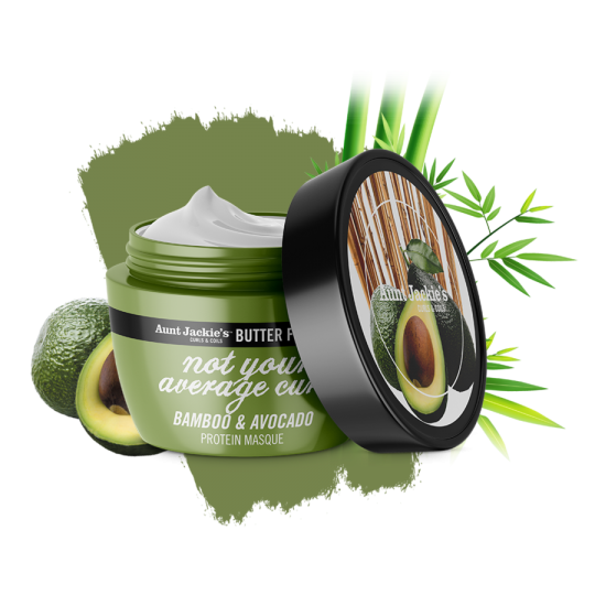 Aunt Jackie's Butter Fusions – Bamboo & Avocado Protein Masque (227g)