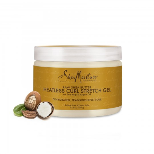 Shea Moisture - Raw Shea Butter - Heatless Curl Stretch Gel - Gel Extensions Boucles (340g)