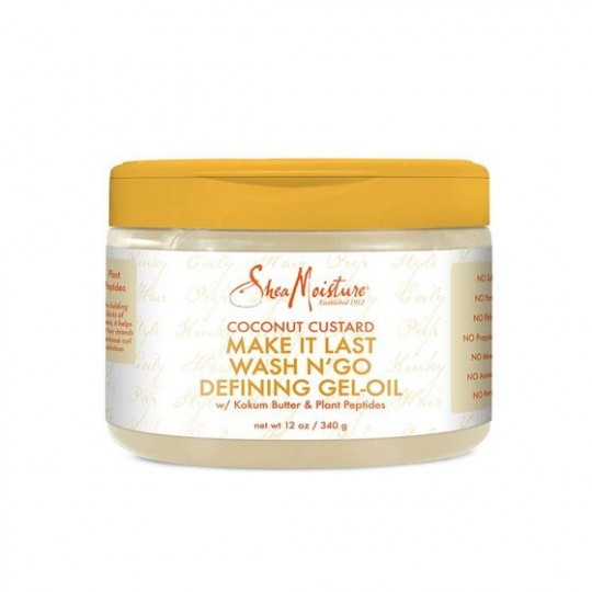 Shea Moisture - Coconut Custard - Wash N' Go Defining Gel-Oil - Gel Définissant Pour Boucles (340g)