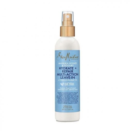 Shea Moisture - Manuka Honey & Yogurt - Hydrate & Repair Multi-Action Leave-In - Spray Revitalisant Sans Rinçage (237ml)