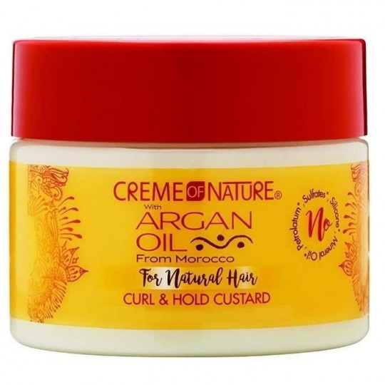 Creme Of Nature - Argan Oil - Curl & Hold Custard - Gel Définition Boucle (326 g)