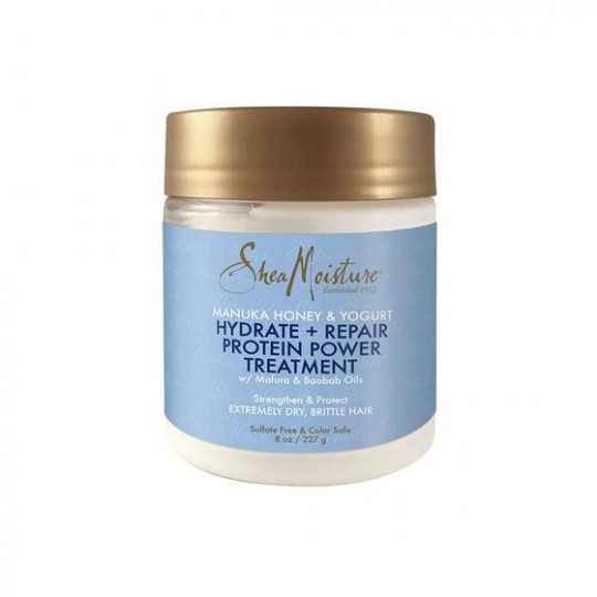 Shea Moisture - Manuka Honey & Yogurt - Hydrate + Repair Protein-Strong Treatment - Traitement Réparateur Protéiné (227g)