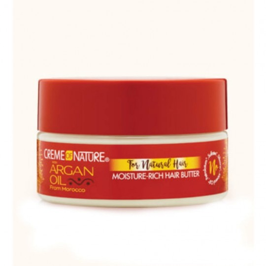 Creme Of Nature - Argan Oil - Moisture-Rich Hair Butter - Beurre Capillaire Riche (213 g)