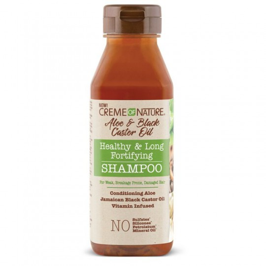 Creme Of Nature - Aloe & Black Castor Oil - Healthy & Long Fortifying Shampoo - Shampoing Fortifiant Aloe & Ricin Noir (355 ml)