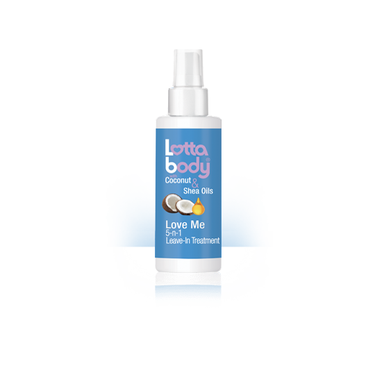 Lottabody - Coconut & Shea Oils - Love Me 5-N-1 Leave-In Treatment - Traitement Apres-Shampoing Sans Rinçage (150 ml)