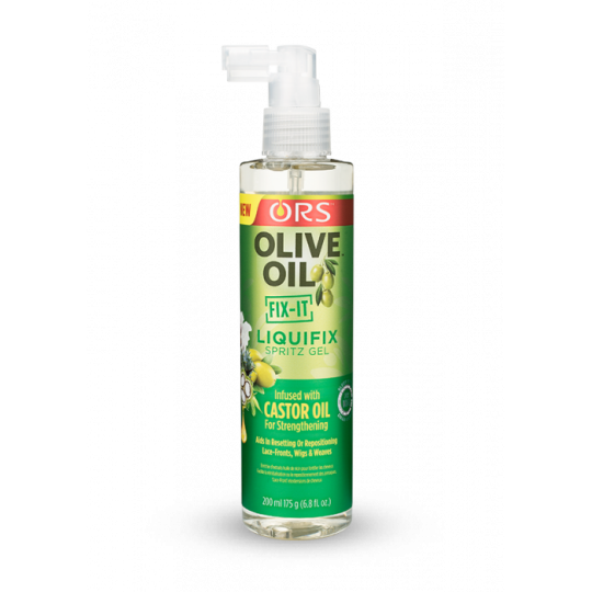 ORS - Olive Oil - Fix-It - Liquifix Spritz Gel - Gel Fixation Pour Perruques (200 ml)