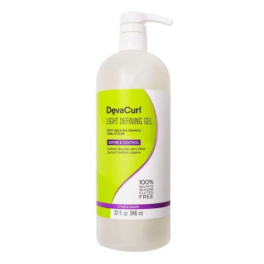 DevaCurl - Light Defining Gel - Gel Coiffant Fixation Légère (946ml)