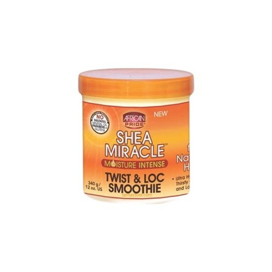 African Pride - Shea Miracle - Moisture Intense Twist And Loc Smoothie - Crème Hydratation Intense (340 g)