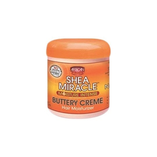 African Pride - Shea Miracle Moisture Intense - Buttery Creme - Crème Capillaire (170 g)