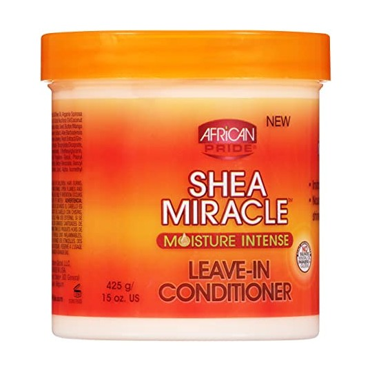 African Pride - Shea Miracle Moisture Intense - Leave-In Conditioner - Crème Capillaire Revitalisante Sans Rinçage (425 g)