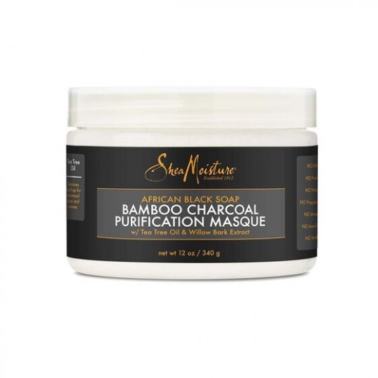 Shea Moisture - African Black Soap - Bamboo Charcoal - Purification Masque - Masque Pour Cheveux (340 g)